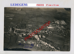 LEDEGEM-Vue Aerienne-Grosse PHOTO Allemande-Guerre 14-18-1 WK-BELGIEN-Flandern- - Roeselare