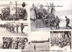 SENEGAL - 7 EME RPIMA RPC REGIMENT DE PARACHUTISTES - EMBARQUEMENT NAVIRE - ANNEES 1960 - LOT DE 6 PHOTOS - MILITAIRE - Guerre, Militaire