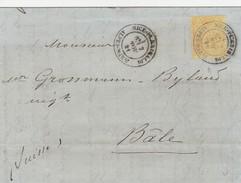 France Lettre De Nice Pour La Suisse 1881 - Postmark Collection (Covers)