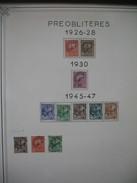 """Lot  1926 à 1947   De Préoblitéré   N° 1 à 8  + 3 Variétés Petit """"t""""  Neuf * - Tunisie (1888-1955)"""