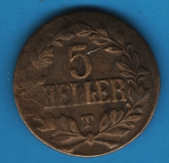 DEUTSCH OST AFRIKA 5 HELLER 1916 T Wilhelm II   KM# 14.2 - East Germany Africa