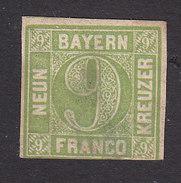 Bavaria, Scott #6, Mint No Gum, Number, Issued 1850 - Bavière