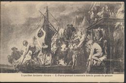 °°° 1941 - EXPOSITION JORDAENS - ANVERS - ST. PIERRE PRENANT LA MONNAIE DANS LA GUEULE DU POISSON °°° - Belgio