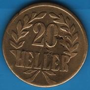 DEUTSCH OSTAFRIKA 20 HELLER 1916 T BRASS Wilhelm II   KM# 15a - East Germany Africa