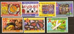 Papouasie Papua New Guinea 2008 Yvert 1257-1263 *** MNH Cote 17,70 Euro Hautes Valeurs AIDS SIDA - Papouasie-Nouvelle-Guinée