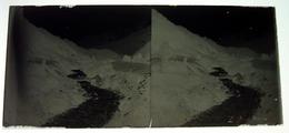 Le Bon Nant (à Confirmer) Le Val Montjoie Haute Savoie  Négatif Sur Plaque De Verre Stéréoscopiques 6X12,5 Cm Env - Plaques De Verre