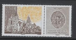 2007 - TIMBRE NEUF - 80 ème Congrès De La Fédération Française Des Associations Philatéliques, à Poitiers - N° YT : 4062 - France