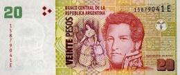 ARGENTINA 20 PESOS ND (2013) P-355a UNC SERIES E, SIGN: PONT &  BOUDOU [ AR355a5 ] - Argentinië