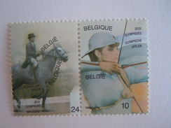 België Belgique 1984 O.S. J.O. Boogschieten Dressuur Tir à L'arc équitation Yv 2120-2121 Cob 2121-2122 MNH ** - Belgium