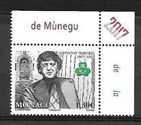 Monaco 2017 - Yv N° 3067 ** - Anthony Burgess (Mi N° 3325) - Monaco