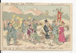 Carte D'Illustrateur       A Bagé La Ville - Francia