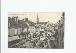 ETAMPES 26 PLACE NOTRE DAME LE MARCHE (ANIMATION) 1916 - Etampes