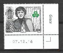 Monaco 2017 - Yv N° 3067 ** - Anthony Burgess (Mi N° 3325) - Unused Stamps