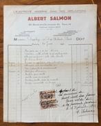FATTURA PUBBLICITARIA  PARIS  1926 ALBERT SALMON L'ELETTRICITE' MODERNE   CON MARCA DA BOLLO - Francia