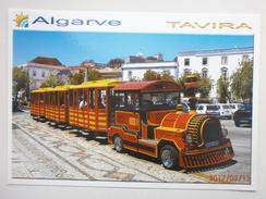 Postcard Tavira Algarve Portugal Road Train / Tourist Bus My Ref B2592 - Portugal