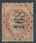 Lot N°35542   Variété/n°38, Oblit GC 168 ARMENTIERRE (57), Taches Blanches Sur 40C - 1870 Siege Of Paris