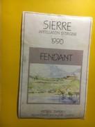 3697 - Suisse Valais Fendant 1990 Frédéric Zufferey Chippis - Etiketten