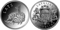 """LETONIA  /  LATVIA   1 Lat   2.012    2012  """"ERIZO""""   SC/UNC    T-DL-10.103 - Letonia"""