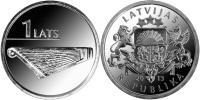 """LETONIA  / LATVIA  1  LATS  2.013  2013   """"HARPA-KOKLE""""   SC/UNC   T-DL-10.435 - Letonia"""