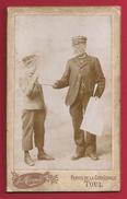 CDV Ou Photographie Ancienne Sur Carton - Deux Vendeurs Du Petit Journal - Studio J. Morquin à Toul - Métiers