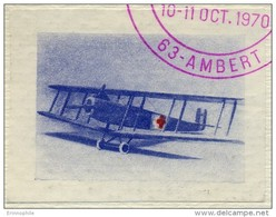 VIGNETTE D´ AVIATION EMISE En 1970 Représentant Le 1er Avion Sanitaire Conçu Par Le Docteur CHASSAING - Commemorative Labels