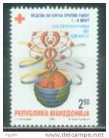 MK 2000-ZZ107 RED CROSS - AGAINST CANCERN, MACEDONIA, 1 X 1v, MNH - Macedonia