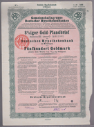 B 518) 8 Prozent Gold-Pfandbrief, 500 Goldmark, Hypothekenbank Meiningen 1925 - [ 3] 1918-1933 : Weimar Republic