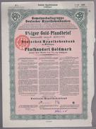 B 518) 8 Prozent Gold-Pfandbrief, 500 Goldmark, Hypothekenbank Meiningen 1925 - 1918-1933: Weimarer Republik