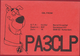 Hanna-Barbera Scooby-Doo American Animated Cartoon QSL Card Amateur Radio Funkkarte 1984 Dog Hond Chien Rotterdam - Radio Amateur