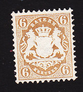 Bavaria, Scott #25a, Mint No Gum, Coat Of Arms, Issued 1870 - Bavaria