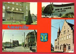 57. Amnéville. Hôtel De Ville, Centre De Loisirs Kiffer, La Maternité, Le Passage à Niveau. Blason. - France
