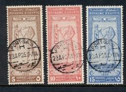 Egypte - 1925 - Congres International De Geographie Le Caire - Complete Set - Port Said Cancel - Egypte