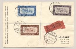 Egypte - 1938 - Congres International De La Lepre - Set On R-cover From Alexandria To Tel-aviv / Palestine