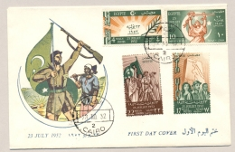 Egypte - 1952 - 23 July - Set - FDC - Not Sent - Egypte