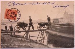 DECHARGEMENT DE BOIS - QUAI D'AUSTERLITZ - PARIS - Die Seine Und Ihre Ufer