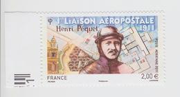 2011 - TIMBRE POSTE AERIENNE NEUF - Centenaire De La Première Liaison Postale Par L'aviateur Henri Péquet - N° YT : 74 - Poste Aérienne