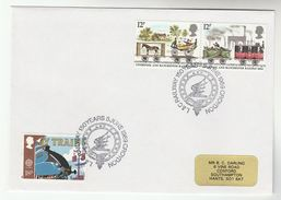 1989 GB Stamps EVENT COVER Pmk CROYDON RAILWAY Anniv Steam Train - Trains