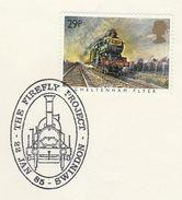 1985 GB Stamps  COVER EVENT Pmk SWINDON FIREFLY RAILWAY TRAIN Steam Train - Trains