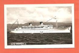 "Cruise Ship, S.S. ""Homeric"", Home Lines.  Postcard."