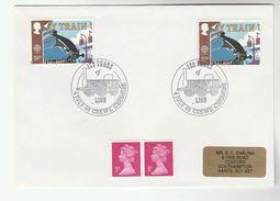 1988 GB Stamps  COVER EVENT Pmk CREWE RAILWAY ' LION' STEAM TRAIN Anniv - Trains