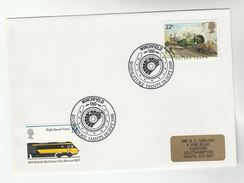 1988 GB Stamps  COVER EVENT Pmk WINCHFIELD RAILWAY BASINGSTOKE Anniv Train - Trains