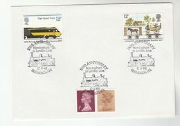 1988 GB Stamps  COVER EVENT Pmk BIRMINGHAM LONDON RAILWAY Anniv Steam Train - Trains