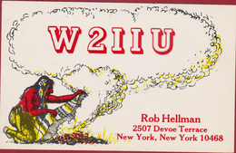New York United States Indian American QSL Card Amateur Radio Station 1976 - Radio Amateur
