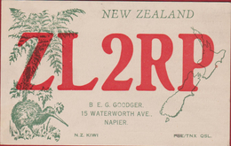 New Zealand Napier Hawkes Bay County Aorangi QSL Card Amateur Radio Station 1976 Kiwi Bird - Radio Amateur