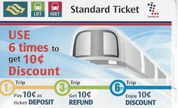 Singapore - Metro - Used Ticket 2016 - Subway