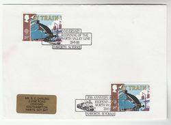 1988 GB Stamps COVER EVENT Pmk  HAWORTH WORTH VALLEY RAILWAY Anniv Steam Train - Trains