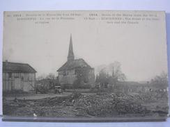 51 - BATAILLE DE LA MARNE 6 AU 12 / 09 / 1914 - ECRIENNES - LA RUE DE LA FONTAINE ET L'EGLISE - France