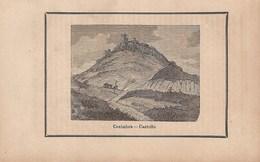 Sesimbra - GRAVURA - Castelo - Castle - Château. Setúbal.