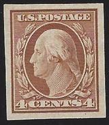 VERINIGTE STAATEN ETATS USA 1908-09 IMPERFORATE WASHINGTON ORANGE BROWN 4C SC 346 YV 170 TYPE B  MI 165 B SG 353 - Ungebraucht