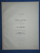 PARTITION GF PIANO CHANT CHARLES LENEPVEU DEUIL D'AVRIL BRUNETTE POËSIE ANDRÉ THEURIET 1888 - Keyboard Instruments